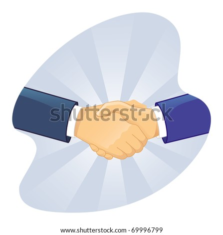 Handshake two man - stock vector