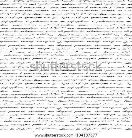 Handwriting. Seamless vector background. Black and white.