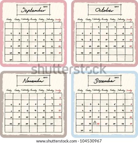 december calendar 2013