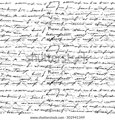 Handwritten seamless background. Vector - stock vector