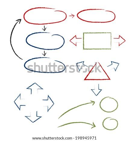 handwritten-symbols - stock vector