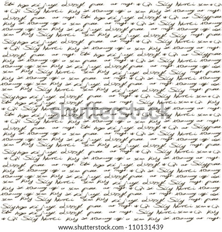 handwritten text - stock vector