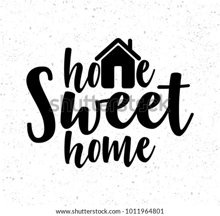 handwritten word home sweet home vector 1011964801 shutterstock. Black Bedroom Furniture Sets. Home Design Ideas