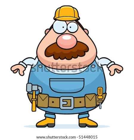 Handyman Standing - stock vector