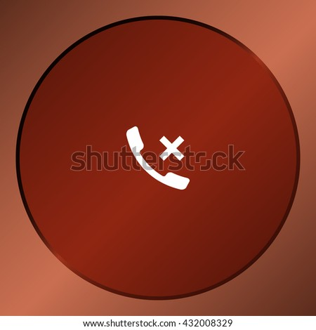 Hang up the phone flat vector icon. Stock illustration