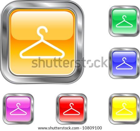 Hanger Button - stock vector