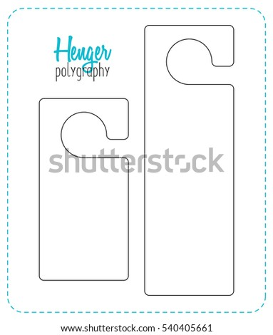 Hanger Die Cut. Empty Shablon. Stamp Template. Vector Black Isolated  Circuit. Hotel