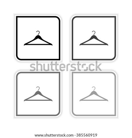 Hanger -  grayscale vector icon - stock vector