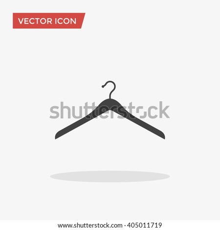 Hanger Icon in trendy flat style isolated on grey background, for your web site design, app, logo, UI. Vector illustration, EPS10. - stock vector