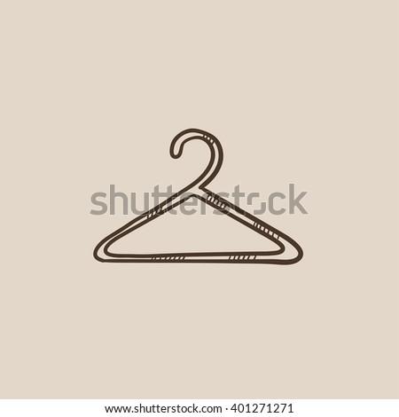 Hanger sketch icon. - stock vector