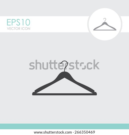 Hanger vector icon. - stock vector