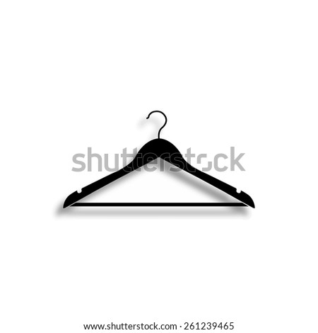 hanger vector icon with shadow - stock vector