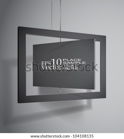 Hanging board template - stock vector