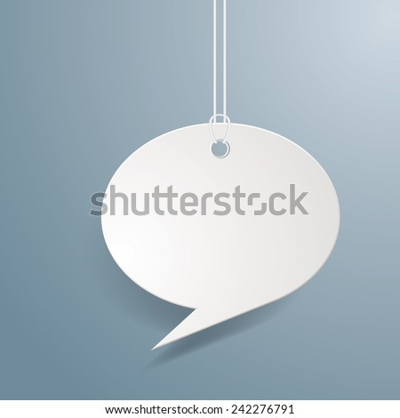 Hanging chat cloud vector illustration. - stock vector