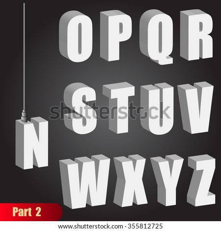 hanging light bulb letters pendant white bold 3d isometric alphabet suspension cable rope abc