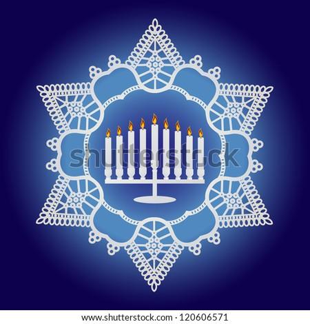 Hanukkah Celebration - Elegant design - stock vector