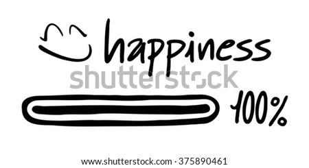happines symbol - stock vector