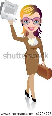Happy and confident businesswoman - stock vector