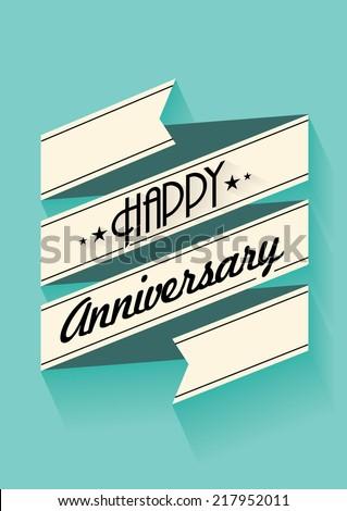 happy anniversary banner template vector/illustration - stock vector