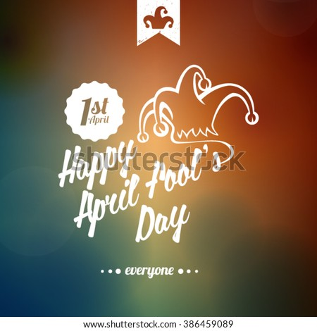 Happy April Fools' Day typographical background - stock vector