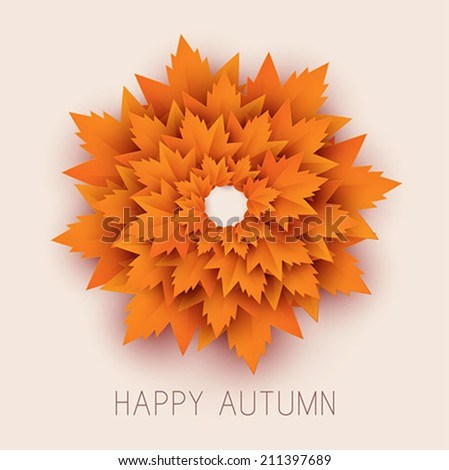 Happy Autumn Vector Background - stock vector