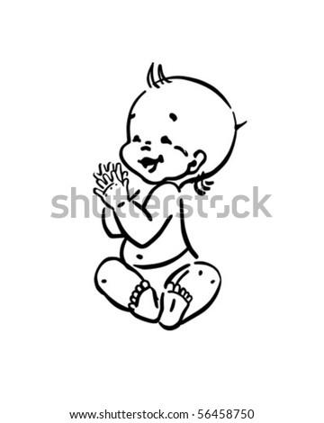 Happy Baby - Retro Clip Art - stock vector