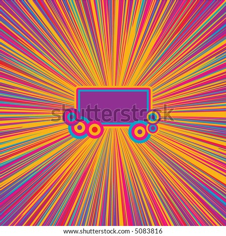 Happy banner - stock vector