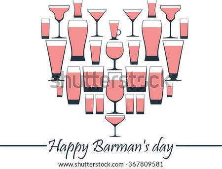 Happy Barman's day. - stock vector