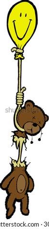 happy bear - stock vector