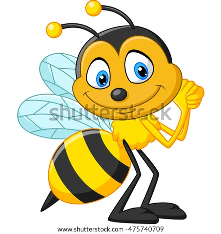Happy bee cartoon