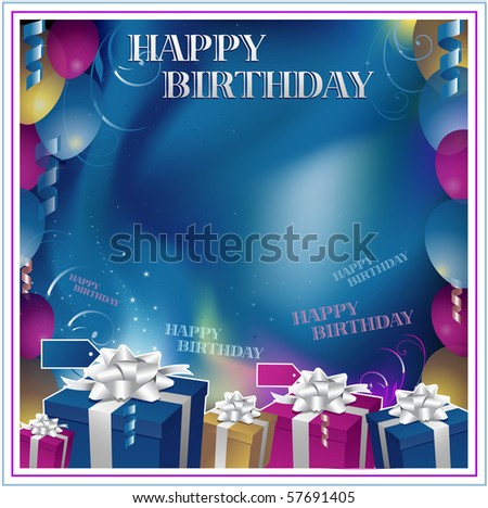 Happy birthday background - stock vector
