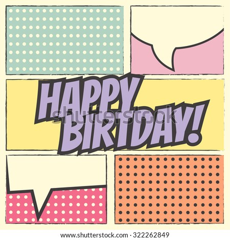 happy birthday background, illustration in vector format - stock vector