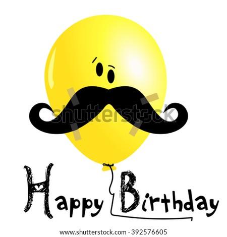 Happy Birthday balloons smile - stock vector