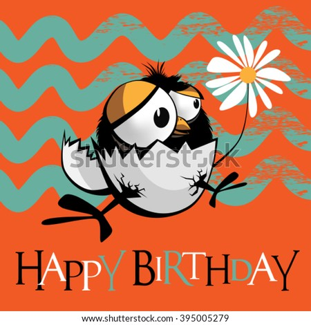 Happy Birthday birds  - stock vector