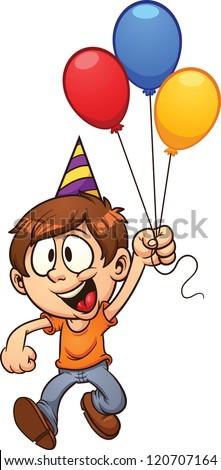 happy birthday boy vector clip art stock vector 120707164 shutterstock rh shutterstock com 2nd birthday boy clipart happy birthday boy clipart
