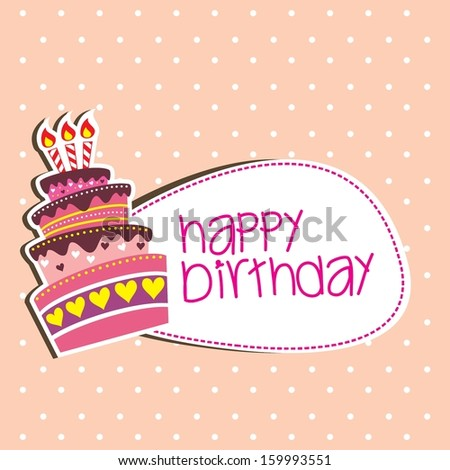 hackerkupers cake set on Shutterstock – Birthday Cake Card Template