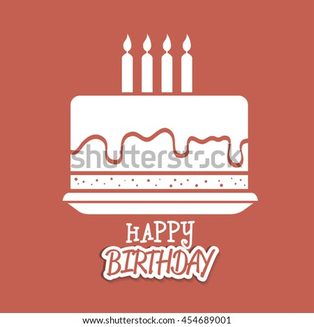 Stock Images RoyaltyFree Images  Vectors Shutterstock - Graphic birthday cake