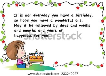 Happy Birthday Card Stock Vector 233242027 Shutterstock