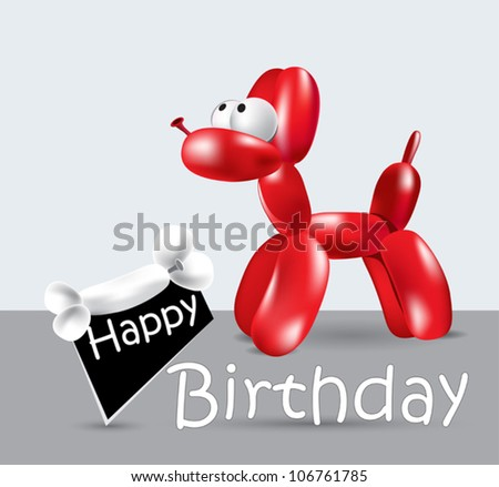 Happy Birthday Card balloon - stock vector