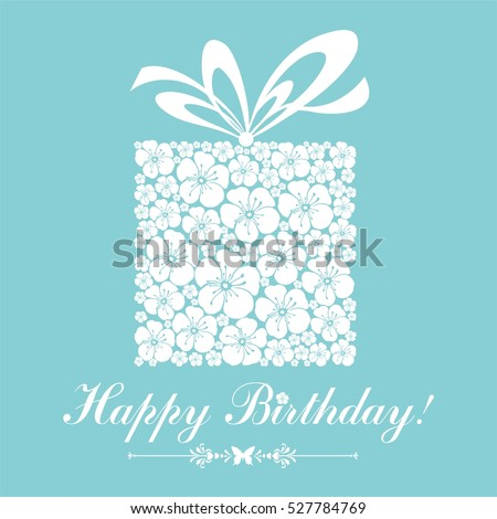 Happy Birthday card. Celebration background with gift boxes and place for your text. vector illustration