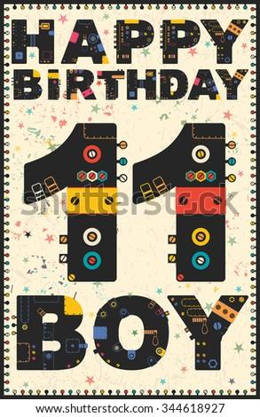 Happy Birthday Card Happy Birthday Boy Stock Vector Royalty Free