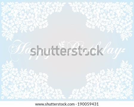 Happy birthday card in retro style. Blue , gray, white shabby color. Vector Version  - stock vector