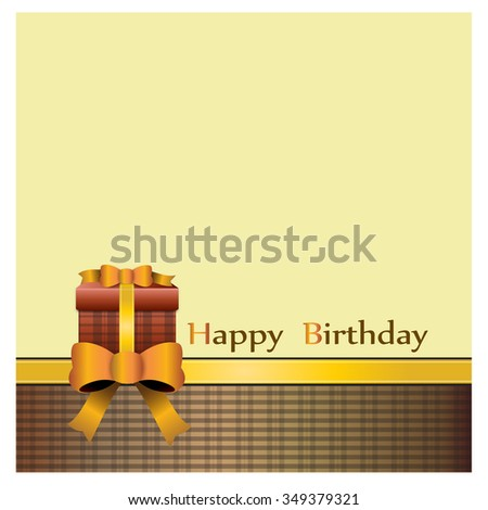 Happy birthday card vector - stock vector
