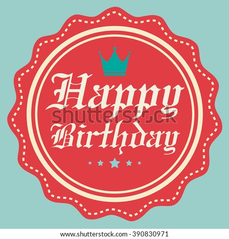 Happy birthday card Vector.
