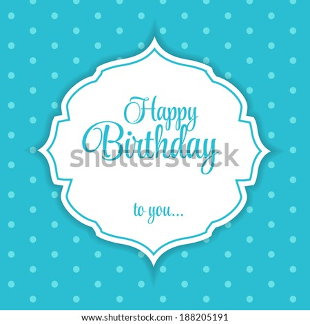 Happy Birthday Card Vector Illustration - stock vector