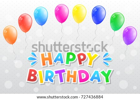 Happy birthday card colourful bunch balloons stock vector 2018 happy birthday card colourful bunch balloons stock vector 2018 727436884 shutterstock bookmarktalkfo Images
