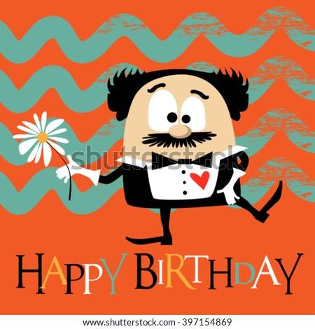 Happy Birthday clown smile - stock vector