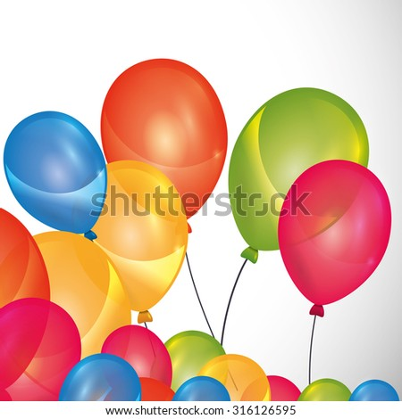 Happy Birthday concept with party icons design, vector illustration 10 eps graphic.