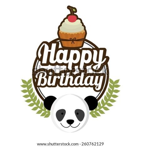 Happy birthday design, vector illustration - stock vector