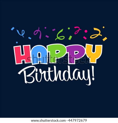 Happy Birthday Typographic Vector Design Greeting Vector – Latest Birthday Greeting Cards